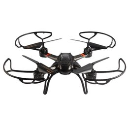 Wholesale Gyro Remote - Mould King UFO 33041A Profession Drones 2.4G 4CH 6 Axis Gyro Hover Quadcopter with Propeller Protector Light RC Helicopter Drone Drones RC+B