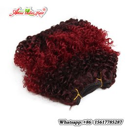 """Wholesale Kinky Curly Synthetic Weave - 8""""Afro Kinky Curly Crochet Hair Extensions Jerry Curl Synthetic Hair Weft High Temperature Freetress curly Hair weaving 2PCS"""