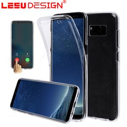 Wholesale Silicon Cover For Iphone - For Samsung S8 PLUS S7edge 360 Full Body Soft TPU Case Ultra-Thin Clear Gel Silicon Front Back Cover for iphone 7 plus A3 A7 A5 2017 S6 edge