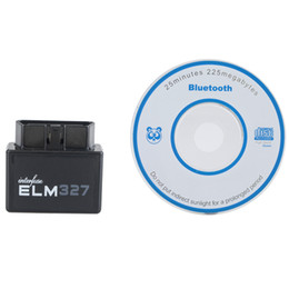 Wholesale Mini Digital Multimeters - Mini ELM327 V2.1 Bluetooth OBD2 OBDII Car Auto Diagnostic Scanner Android M00086 VPRD