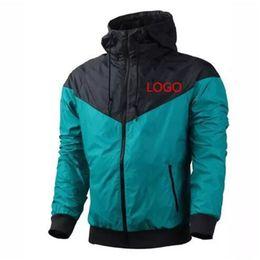 Wholesale Fall Color Fashion - Wholesale Fall thin windrunner Men Women sportswear waterproof fabric Men sports jacket Fashion zipper hoodie Free Shipping