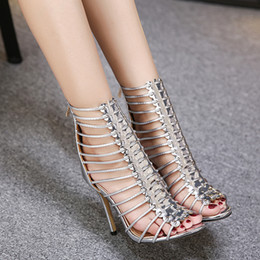 N403 2017 Sexy Peep-Toe Women Sandals Summer Shoes Woman Party Wedding Shoes  Fashion Golden Thin Belt Hollow Out High Heels Sandals 89ee57711756