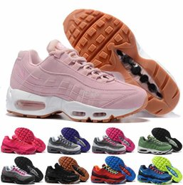 Wholesale Womens Athletic Shoes Cheap - 2017 New Air 90 95 Women Running Shoes Pink Green Black High Quality Womens Athletic Cheap Sports Sneakers Retro Trainers Shoes 36-40