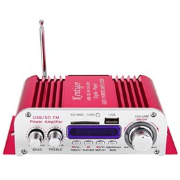 Wholesale Sound Digital Amplifier Car Audio - 2017 New Car Amplifier Hi-Fi Digital Auto Stereo Power Amplifiers Sound Mode Audio Music Player USB MP3 DVD SD MMC FM Red power car