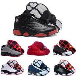 Wholesale Hot Purple Glitter - [With Box] Wholesale Jumpman Cheap Hot New men Basketball Shoes Air Retro 13 Bred Sports Shoe Running Shoes Mens Basketball Shoes For Sale