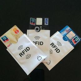 Wholesale Cartoon Ladies - RFID Credit Card Protector RFID Sleeve Aluminum 9.3cm x 6.3cm Safety Shield Extra Passport RFID Sleeve Anti Theft Holder Case