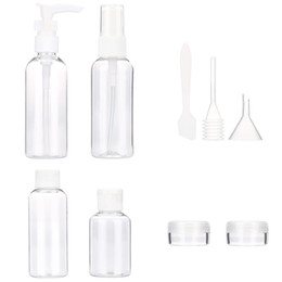 Wholesale Green Cosmetic Spray Bottles - Wholesale- 4-9pcs Set Tubes Cosmetic Cream Travel Lotion Containters Packing Empty Bottleemulsion spray bottle fliping bottle cream boxes