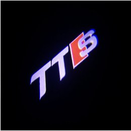 Wholesale Audi Tts - Top fashion 2pcs LED Car Door Welcome Light Laser Projector S line Logo For Audi A1 A3 A5 A6 A7 Q3 Q5 Q7 TTS free shipping