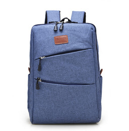 Wholesale Red Notebook Computer - Wholesale- Casual Canvas Cool Men's Simple Design Computer Notebook Backpacks School Bag Business Laptop Backpack Travel Bag