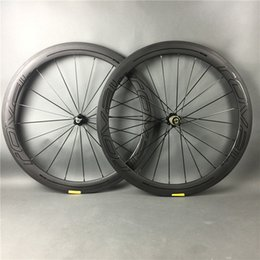 Wholesale Race Wheels - 50mm road bike 3K UD full carbon fiber wheels matte surface with glossy sitcker carbon fibre wheelset for bicycle racing,free shipping
