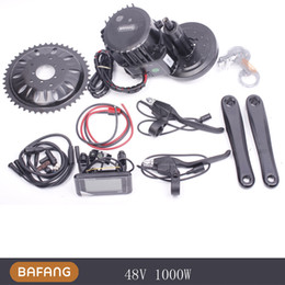 Wholesale Electric Bicycle Motor 48v - Bafang BBS03 BBSHD Lastest model 48V 1000W Ebike Electric bicycle Motor 8fun mid drive electric bike conversion kit