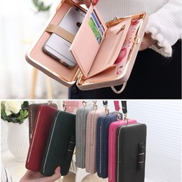 Wholesale Luxury Women Wallet Phone Bag Leather Case For iPhone s Plus s Samsung Galaxy S7 Edge S6 J5 Note