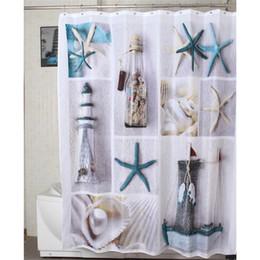 Vente en gros - Nouvelle mode 1 Pcs Étanche Mildewproof Starfish Motif Bain Salle De Bains Décor Polyester Rideau De Douche 72 Pouce +12 Crochets ? partir de fabricateur