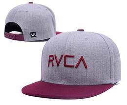 Wholesale Black White Snapbacks - Wholesale brand new RVCA snapbacks caps baseball hats for men women sports hip hop brand bone gorras