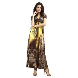 Wholesale Maxi Long Dress Leopard Print - Leopard Print Long Women Maxi Dress Vestidos 2017 Fashion Casual Elegant Evening Party Plus Size Sexy Robe Ladies Clothing