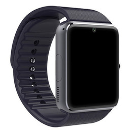 Wholesale Rohs Tracker - GT08 Bluetooth Wearable Smart Watch CE ROHS Touch screen watch with sim card slot for Phone