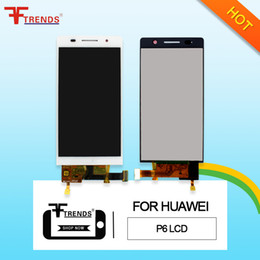 Touch screen per huawei ascendere g7 online-Alta qualità A +++ per HUAWEI Ascend P6 G6 G7 Display LCD Touch Screen Digitizer con / No Frame Assembly 100% testato
