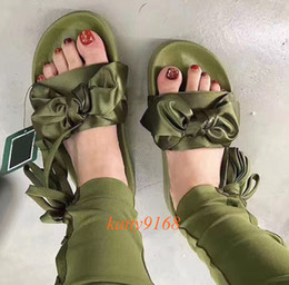 Wholesale Hotel Beauty - Spring and Fall Bowtie Sandals for Women 2017 New Beauty Girls Indoor Slippers Lightweight Moccasins Wholesale in Size EUR35-41