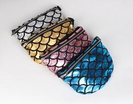 Wholesale Handbag Ems - Women Fashion Makeup Bags Mermaid Pocket Sequin Purse European American Tote Storage Bag Crossbody HandBags Cosmetic Makeup Bag EMS Shipping