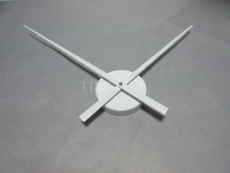 Wholesale Mechanism Wall Clock - Wholesale-White Color Large Clock Needles Accessory for 3D Wall Clock DIY Big Size Clock Hands and Metal Mechanism Living Room Decoration