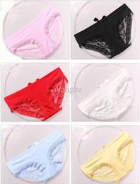 Wholesale Mix Panties - Factory Primary Source Women's Lace Briefs Panties G-string Flower Print Bowknot Mix Order Hot 6pcs