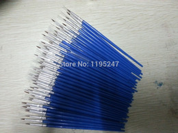 Wholesale Painting Rods - Wholesale-Transon fine circle head Rod nylon painting brushes for oil,acrylic painting,Gel Pen,100pcs  set, high quality, free shipping