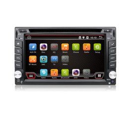 Wholesale Dvd Usb Tv - 2 Din Pure Android 4.4 Car DVD Player Navigation Stereo Radio GPS WiFi 3G CAPACITIVE Touch Screen USB Camera Car PC TV