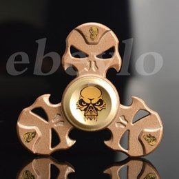 Wholesale Kids Pirate Ships Toys - The pirate skull Fidget Spinners Alloy hand spinner for Kids Adult Focus Desk Toy Decompression Finger Gyro Toys DHL Free shipping