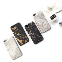 Wholesale Paint Chrome - Gold Chrome Marble For iPhone X 8 7 6 6s plus Soft Tpu Back Cover IMD High Quality Painting Design Marbling Texture Case For Samsung Note 8