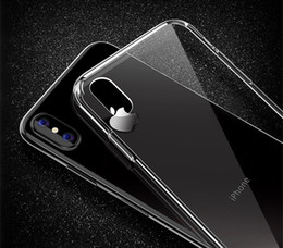 Wholesale Wholesale Pocket Protectors - For iPhone X Phone Case Back Cover Case TPU Clear Shockproof Case Phone Protector for Iphone X