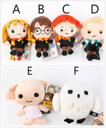 "Wholesale dolls harry potter - Hot ! Harry Potter Plush Toy Dolls Q Version Malfoy Hermione Dobby Owl Hedwig Plush Pendant Kids Birthday Gift 4.7"" 12cm"