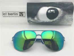 occhiali senza lente Sconti occhiali da sole per uomo germany occhiali da sole firmati per donna IC collassare senza occhiali da sole con montatura in metallo a vite con lente UV400