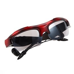 Wholesale Android Telephones - New Sports Stereo Wireless Bluetooth 4.1 Headset Telephone Driving Sunglasses mp3 Riding Eyes Glasses Free Shipping