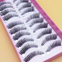 Wholesale Taper Tools - New Arrival 1 box 10 pairs Winged Thick False Eyelashes Natural Long Fake Eyelashes Cross Tapered Tools Makeup False Eyelashes