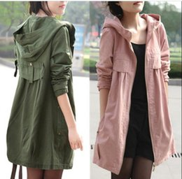 Wholesale Hooded Womens Trench Coat - Women's Trench Coats 2017 Oversized Parkas For Women Winter&Autumn Maternity Clothing Jacket Womens Coat