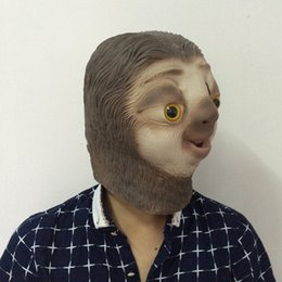 Wholesale Latex Animal Face Masks - Party Masks Zootopia Flash sloth mask Full Head Animal Costume Carnival Film Fans Latex Mask free shipping