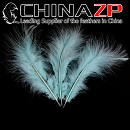 Wholesale Cheap Marabou - Gold Supplier CHINAZP Crafts Factory 100pcs lot 10~20cm(4~8inch) Length Cheap Good Quality Dyed Light Blue Turkey Marabou Feathers