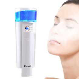 Wholesale Nano Steamer - Dual Use Ultrasonic Facial Steamer Mini Nano Mist USB Rechargeable Facial Sprayer Pores Cleanser for Face Spa Skin Care Tool