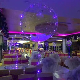 Wholesale Balloons - New Arrival Clear Balloon 18 Inch With 3 Metres Light String Airballoon PVC LED Transparent Balloons For Child B R