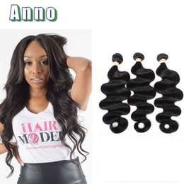 Wholesale Cheap Good Hair Extensions - Malaysian Body Wave 3 Bundles Deals 7a Unprocessed Human Hair Extensions Good Cheap Weave On Line Natural Color Can Be Dyed