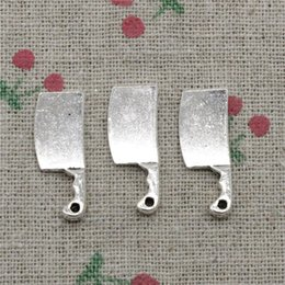 Wholesale Meat Cleavers - 90pcs Charms Jewelry kitchen knife meat cleaver 23*9mm Antique pendant ,Zinc Alloy Ancient Sliver DIY Craft Necklace Bracelet Accessories