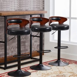 Wholesale Counter Stools - public house chair rotation lifting black white seat stool design furniture retail wholesale hotel counter reception desk free shipping