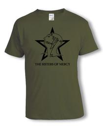 Wholesale Men Gothic Shirt - Sisters of Mercy T-Shirt Gothic Rock Stern S-3XL versch. Farben