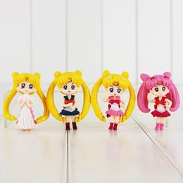 Wholesale Q Models - 6cm Anime Sailor Moon Tsukino Usagi Chibi Usa Q Version PVC Action Figure Collectable Model toy gift for kids toy free shipping retail