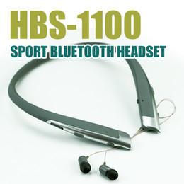 Wholesale Hot Selling Earphones - Hot Selling HBS 1100 Wireless Sport Neckband Headset In-ear Headphone Bluetooth Stereo Earphones with Retail Box