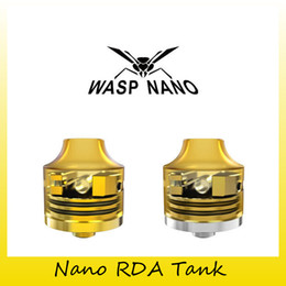 Wholesale Smallest Atomizer - Authentic WASP Nano RDA Tank 22MM Rebuildable 510 Threading Connection Atomizer Top Small Atom With Big Cloud Tank 100% Genuine 0203686