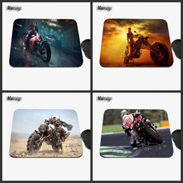 Wholesale Motorcycles Images - Motorcycle Racer Custom Design Image, Fashion Gift Anti-slip Laptop Computer Game PC Rectangle Mouse Mat