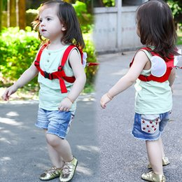 Wholesale Harness Backpacks - Anti-lost Harness Leash Backpack For Children Angel Design Toddler Walking Assistant Strap Rein Baby Safety Kids Keeper, 4 Color