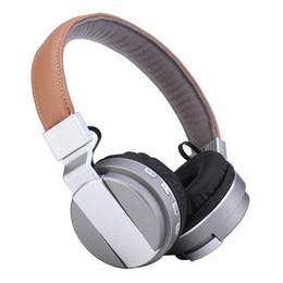 Wholesale Headphones Radio Stereo - Bluetooth Wireless Headset BT008 Headphone Foldable TF Card FM Radio Earphone Dual Stereo Headphone With Microphone