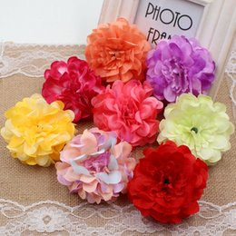 Wholesale Artificial Flowers Pink Peony - Wholesale-10Pcs 8cm Silk High Quality Peony Artificial Flower For Wedding Party Decoration Corsage Craft Flower Shoot Props Aches Floral